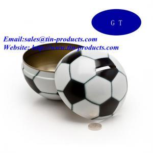 Wholesale Ball-Shaped Money Saving Tin Box, X-Mas Ball Tin Coin Bank, Money Box, Christmas Ball Tin from china suppliers