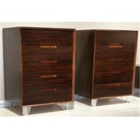 Modern Vertical Storage Cabinet With 5 Drawers , Popular Walnut Wooden Cabinet