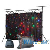 Wholesale Fabric Soft Cloth Flexible Led Curtain Colorful Sound Active For Party / KTV from china suppliers