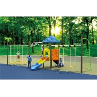 Wholesale small set toddler outdoor swing adventure playsets with slide from china suppliers