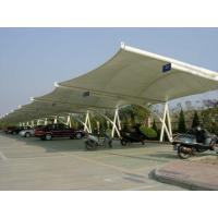 Wholesale UV Resistant Car Canopy Tents With Awning Fabric Membrane Structure from china suppliers