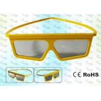 Wholesale Imax Cinema Yellow framed Linear polarized 3D glasses from china suppliers
