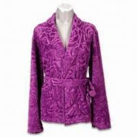 Wholesale Ladies Jacquard Robe, Available in Various Designs and Colors, Soft Handfeel from china suppliers