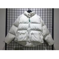 China White Winter Puff Jacket Ladies Warm Parka Womens With Big Pockets In Fashion Style for sale