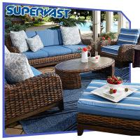 Wholesale Luxury Outdoor Furniture Resin Rattan Wicker Garden Furniture Patio Sofa Set from china suppliers