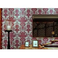 Wholesale Damask Pattern Victorian Style Wallpaper with Eco friendly PVC Material , Strippable from china suppliers