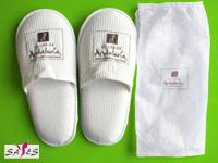 Wholesale 44 42 Mens Close Toe White 100 % Microfiber Disposable Hotel Slippers from china suppliers