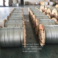 Wholesale Non - Alloy Galvanized Steel Core Wire , Stiffness 3 16 Galvanized Steel Cable from china suppliers