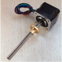 Buy cheap stepper motor lead screw 1.8 degree 42x40mm,Tr8x8mm 42SHD0217-150NK from wholesalers