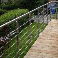 Wholesale SS316 metal handrails for decks with 8mm solid rod bar design from china suppliers