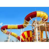 Wholesale Fiberglass Commercial Adult Water Slide / Tornado Water Slides For Aqua Park from china suppliers