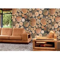 Wholesale Decorative Low Price Wallpaper , Wood Pattern Eco Friendly 3d Interior Wallpaper Lounge Rooms from china suppliers