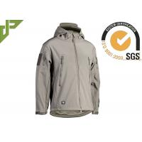 Polyester Green Military Tactical Jackets With Armhole / Hat For Mountaineering