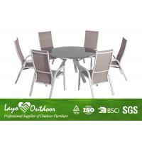 Wholesale Nice Looking 7PCS Extendable Dining Table Set With Adjustable Sling Chairs from china suppliers