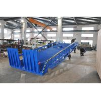 Wholesale Adjustable Container Loading Mobile Dock Ramp With Outrigger, Manual Operating and Blue Color from china suppliers