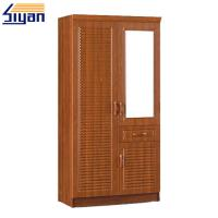 Wholesale Bedroom Furniture Shutter Style Wardrobe Doors PVC Surface OEM ODM Service from china suppliers
