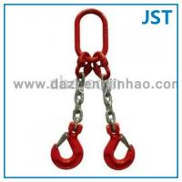 Wholesale 20t Triple Leg Lifting Chain Slings with Oblong Link Foundry Hook from china suppliers