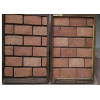 Wholesale Customized Exterior Faux Brick Panels , Thin Brick Veneer For Fireplace / TV Walls Decration from china suppliers