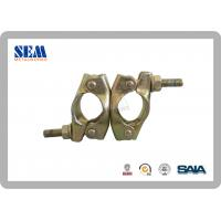 Wholesale Q235 Golden Coupler Scaffolding Clamps For 60.5*60.5mm Dimension , Swivel / Fixed from china suppliers