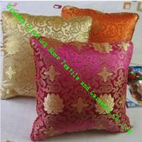Wholesale Square Knitted Quilted Silk Throw Pillows , Soft Decorative Sofa Cushions from china suppliers