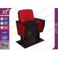 Wholesale Black Double Leg Concert Hall Auditorium Chairs Plywood Armrest For Interior from china suppliers