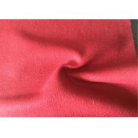 Quality Lovely Felted Wool Fabric Red Color , Wool Blend Suiting Fabric 55g/M for sale