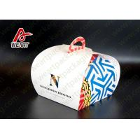 Wholesale Single Cake Style Paper Kraft Boxes , Die Cut Handled Purple Wrapping Paper Gift Boxes from china suppliers