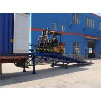 Wholesale Blue 10 Ton Mobile Dock Ramp For Container , Portable Loading Ramps For Trucks from china suppliers