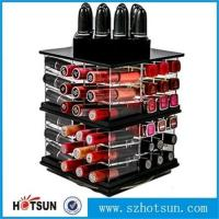Wholesale OEM hot sales clear acrylic cosmetic display lipstick stand holder from china suppliers