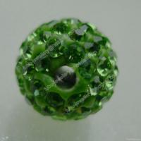 Wholesale Peridot Clay Shamballa Pave Beads In Size 6mm, 8mm, 10mm, 12mm from china suppliers
