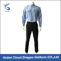 Wholesale Blue Interweave SWAT Team Uniform Regular Fit For Police / Security Guard from china suppliers
