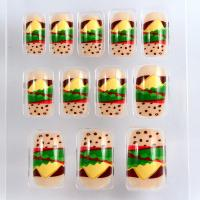 Quality Summer Yellow Fruit Nail Art Fake Nails Full Cover For Girls for sale
