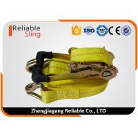Wholesale American Standard 2 Inch Ratchet Tie Down Strap with Yellow Polyester Webbing from china suppliers
