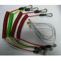 Wholesale Tool lanyard flex coil cable with custom different colors rubber coated strong leashes from china suppliers