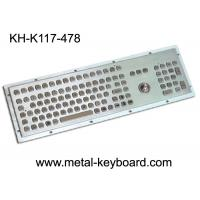 Wholesale Dustproof metal panel mount keyboard with trackball and number keypad from china suppliers