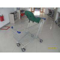 Buy cheap Supermarket Grocery Shopping Cart  210L / Metal Steel Grocery Buggy Carts With Baby Capsule from wholesalers