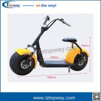 Wholesale 18*9.5 inch 1000w 48v harley electric scooter no folding citycoco for adults from china suppliers