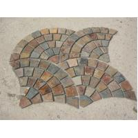 Wholesale China Rusty Slate Fan Flagstone Walkway Patio Pavers Fan Flagstone Driveway Outdoor Wall Stone from china suppliers