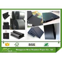 Wholesale 100% Pure Wood Pulp Double Side Smooth Black Paper Roll 110gsm - 530gsm from china suppliers