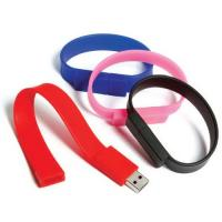 Wholesale customizable silicone custom USB 2.0 wristbands wholesale 128MB - 32GB with printed logo from china suppliers