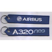 Wholesale A320 Neo Airbus Logo Fabric Embroidery Keychain  FOB Embroidered Key Chain from china suppliers