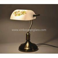 Wholesale European Antique Bank Table Lamp Glass Brass Metal Bank Table Lamp from china suppliers