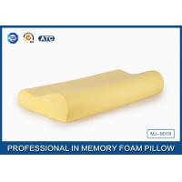 High Density Contoured Slow Rebound Memory Foam Pillow For Spine Alignment