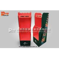 3 Tiers Cardboard Floor Display Stands For Red Wine Promotion