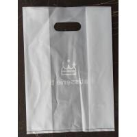 Wholesale Custom DieCut white CPE Handle Bags , Biodegradable Plastic Shopping Bags from china suppliers