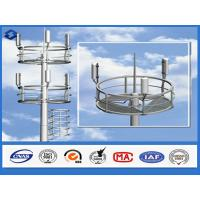 Buy cheap Q345 steel material monopole telecommunications tower  6 - 28 mm Thickness from wholesalers