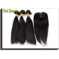 Wholesale No Chemical Grade 6A Virgin Hair Straight Hair Style Natural Black 1b# With Closure from china suppliers