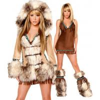 Wholesale Sexy Eskimo Sexy Womens Halloween Costumes With Coat / Dress / Legwarmers from china suppliers