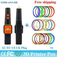 Wholesale Orange 3d plastic pen Painting Tools For Drawing With 20 Color 5m ABS Filament from china suppliers