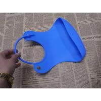 Wholesale OEM Protable Flexible Waterproof Silicone Baby Bibs of Blue from china suppliers